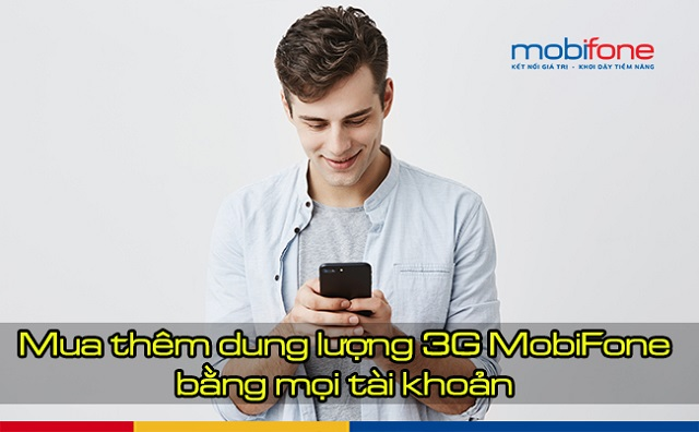 Mua thêm dung lượng 3G MobiFone để tiếp dùng mạng tốc độ cao